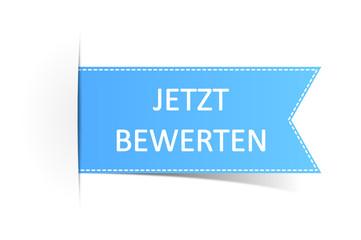 Schild blau Bewertung