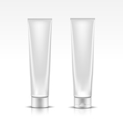 Tube for Cosmetic Package Isolated on White Background