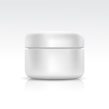 Vector Blank Cosmetic Container for Cream, Powder or Gel