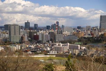 View of the city, Sendai, Japan