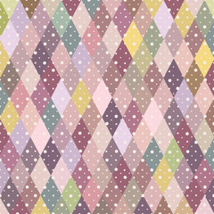 Colorful mosaic pattern with dots