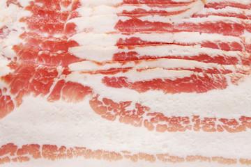 Sliced bacon close-up.