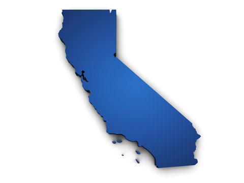 Map Of California 3d Shape