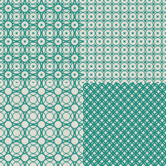 set of retro abstract seamless background with fabric texture