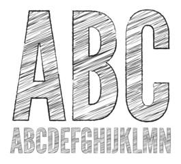 Pencil  sketched font