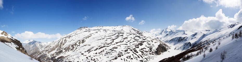 Panoramic view of Italian Alps