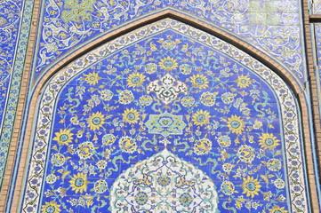 Imam Moschee - florale Muster auf glasierten Fliesen