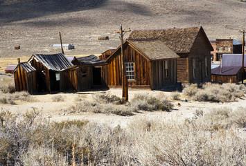 Holzhütten In Der Prärie