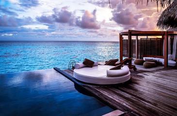 Keuken foto achterwand Chocoladebruin Luxury beach resort