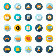 Set of Flat Icons Vector Illustration