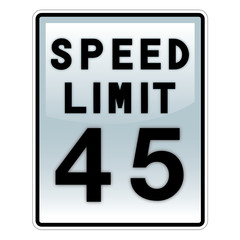 speed limit road and traffic sign