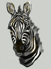 cg painting zebra head