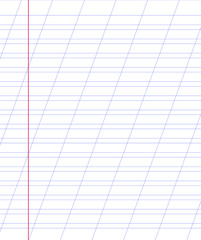 Blank  notebook paper sheet with lines