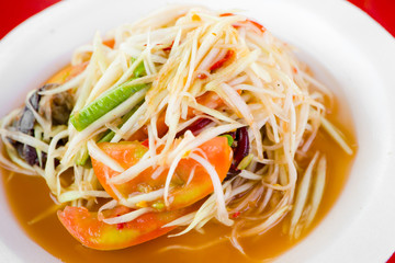 Green papaya salad thai cuisine