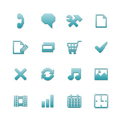 Pixel icons set for navigation