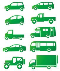車のシルエット(エコイメージ)