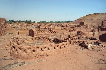Old part (citadel) of desert town Mut in Dakhla oazis in Egypt