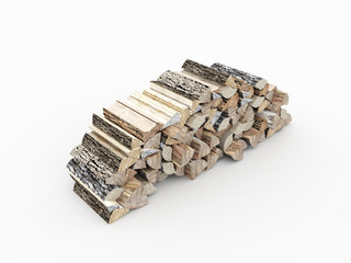 Fire wood concept rendered isolated