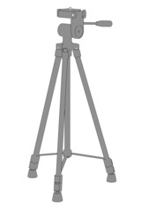 cartoon image of tripod stand