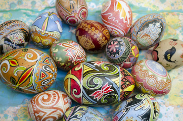 Easter eggs background paint