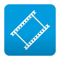 Etiqueta tipo app azul simbolo video