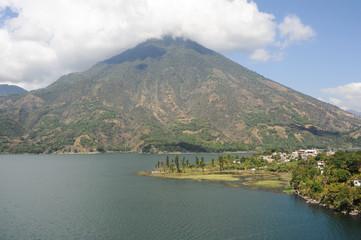 Vulcano San Pedro on the lake of Atitlan