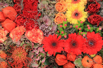 Autumn flower arrangement