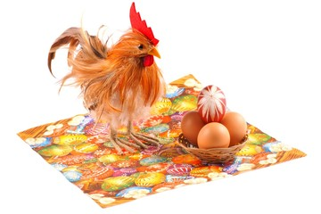 Easter, chicken, egg, isolated on a white background