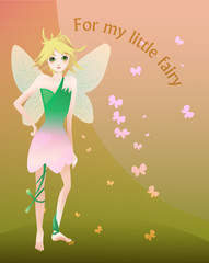 Little blond fairy illustration