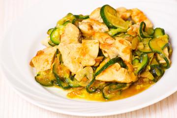 chicken fillet with zucchini