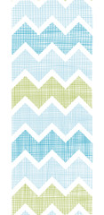 Fabric textured chevron stripes vertical seamless pattern