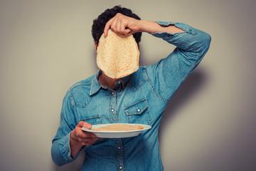 Hiding behind pancakes