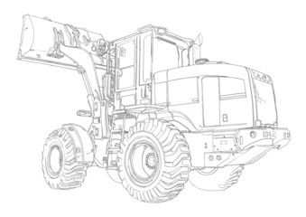 Loader illustration drawing art