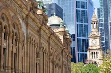 Queen Victoria Building and Sydney Town Hall (Australia)