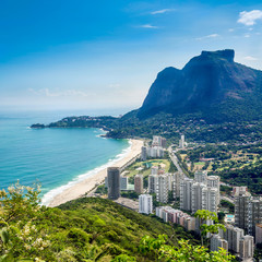 Sao Conrado with Pedra Da Gavea Hill, Rio de Janeiro