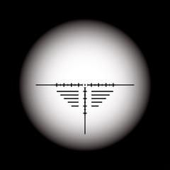 Rifle scope. Vector EPS10.