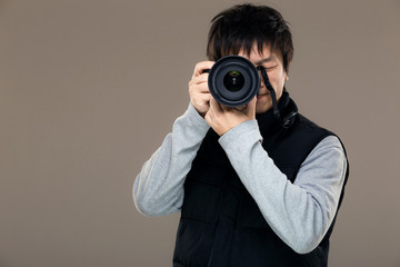 Asia male photographer