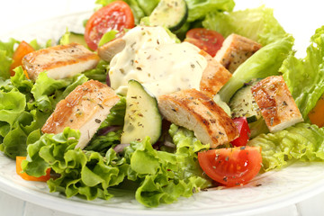 insalata con pollo
