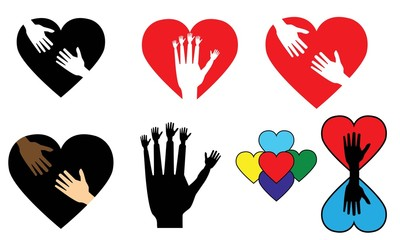 Logos- hands and hearts