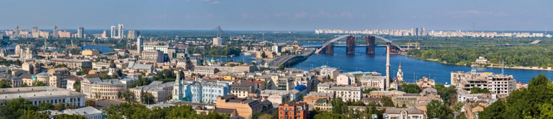 Wall Murals Kiev Panorama of Kiev with the Dnieper river - Ukraine