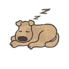dog sleep cartoon - vector