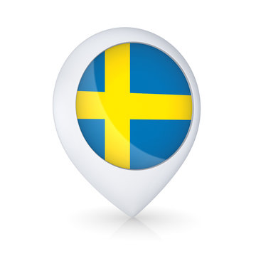 GPS icon with Swedish flag.