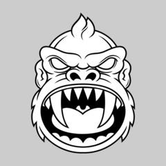horror monkey head