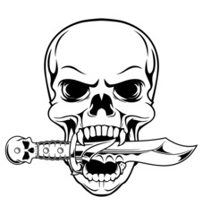 skull bite a dagger