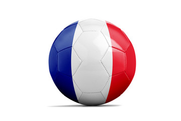 Soccer balls with teams flags, Brazil 2014. Group E, French