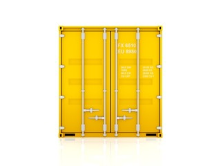 Yellow container.