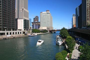 Papiers peints Chicago Chicago river