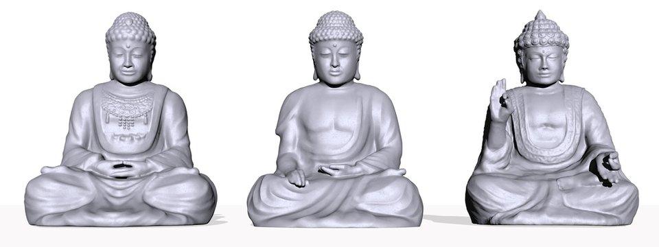 set of meditation - 3D render