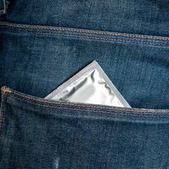 Condom in jeans pocket