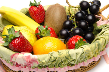 Some fruits in a basket